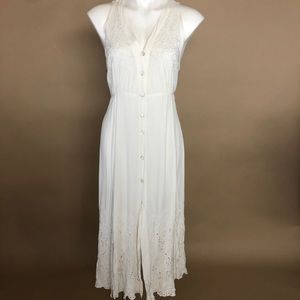 Vintage Beaded Button Down Wedding Dress